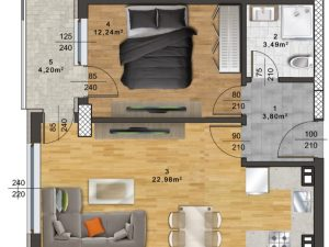 "Апартамент Б-16 в комплекс ""Panorama Park"""