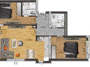 "Апартамент А – 36 в комплекс ""Panorama Park"""