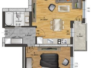 "Апартамент А – 42 в комплекс ""Panorama Park"""