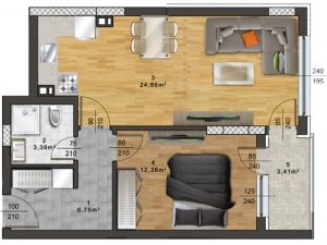 "Апартамент А – 47 в комплекс ""Panorama Park"""