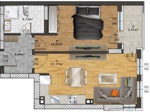 "Апартамент А – 48 в комплекс ""Panorama Park"""