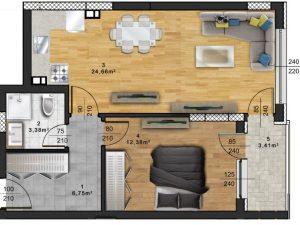 "Апартамент А – 53 в комплекс ""Panorama Park"""