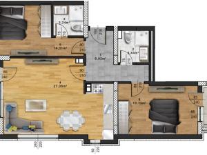 "Апартамент А – 56 в комплекс ""Panorama Park"""