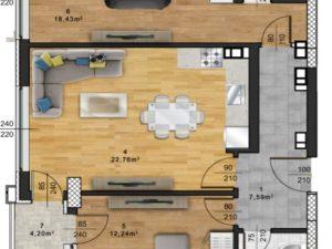 "Апартамент А – 57 в комплекс ""Panorama Park"""