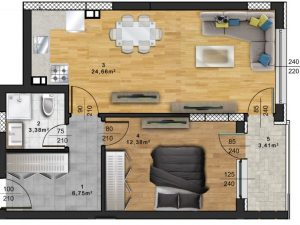 "Апартамент А – 65 в комплекс ""Panorama Park"""