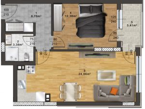 "Апартамент Б – 33 в комплекс ""Panorama Park"""