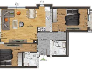 "Апартамент Б – 36 в комплекс ""Panorama Park"""