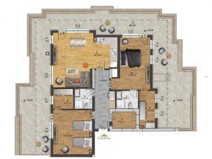 "Апартамент Б – 60 в комплекс ""Panorama Park"""