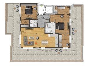 "Апартамент Б – 61 в комплекс ""Panorama Park"""