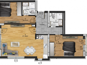 "Апартамент А – 50 в комплекс ""Panorama Park"""